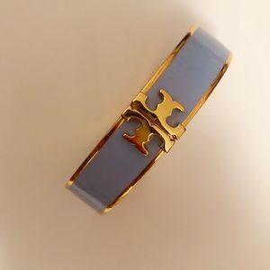 Tory Burch Hinged Bracelet Baby Blue